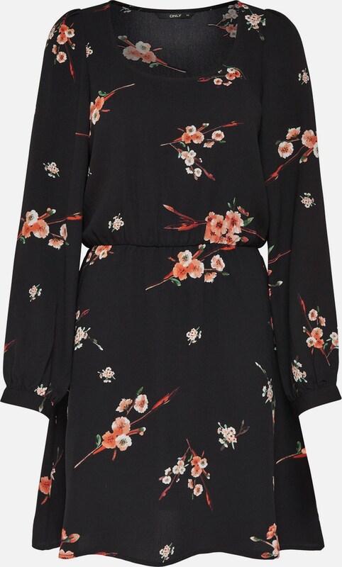 ONLY Print Kleid mit langen Ärmeln