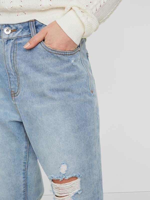 VERO MODA Ankle Straight Fit Jeans 'Anna NW'
