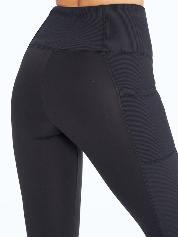 Marika Sportleggings in schwarz: Frontalansicht