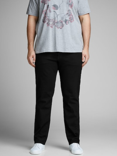 Jack & Jones Plus Jeans 'Tim Original Am 816' in schwarz, Modelansicht