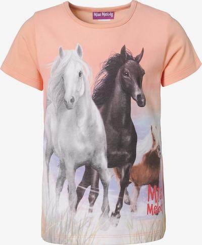 Miss Melody T-Shirt in mischfarben / koralle, Produktansicht