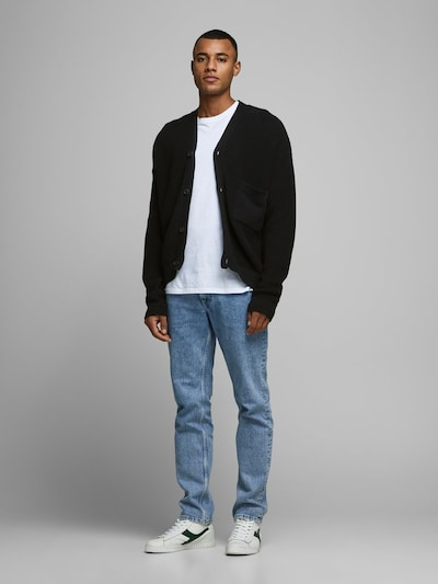 JACK & JONES Strickjacke in schwarz: Frontalansicht
