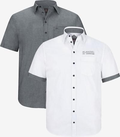 Jan Vanderstorm Hemd 'Evin' in grau / weiß: Frontalansicht