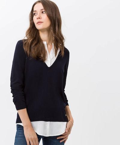 BRAX Pullover 'Style Lara' in schwarz / weiß, Modelansicht