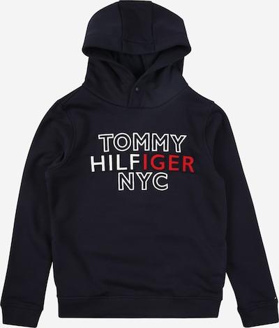Bluză de molton TOMMY HILFIGER pe albastru noapte / roșu / alb, Vizualizare produs