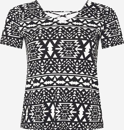 ONLY Carmakoma Koszulka 'Bandana' w kolorze czarny / białym, Podgląd produktu
