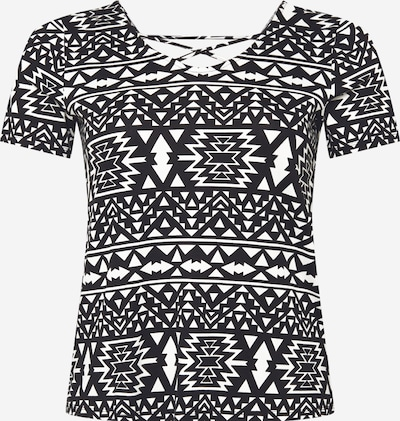 ONLY Carmakoma T-shirt 'Bandana' en noir / blanc, Vue avec produit