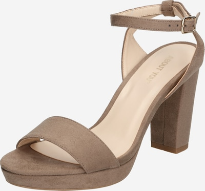ABOUT YOU Remsandal 'Christin' i taupe, Produktvy