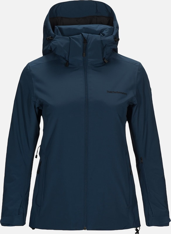 PEAK PERFORMANCE Outdoorjas 'W ANIMA J' in de kleur Blauw, Productweergave