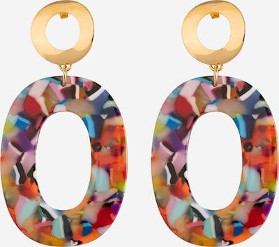 Fräulein Wunder Boucles d'oreilles 'Asina' en or / mélange de couleurs, Vue avec produit