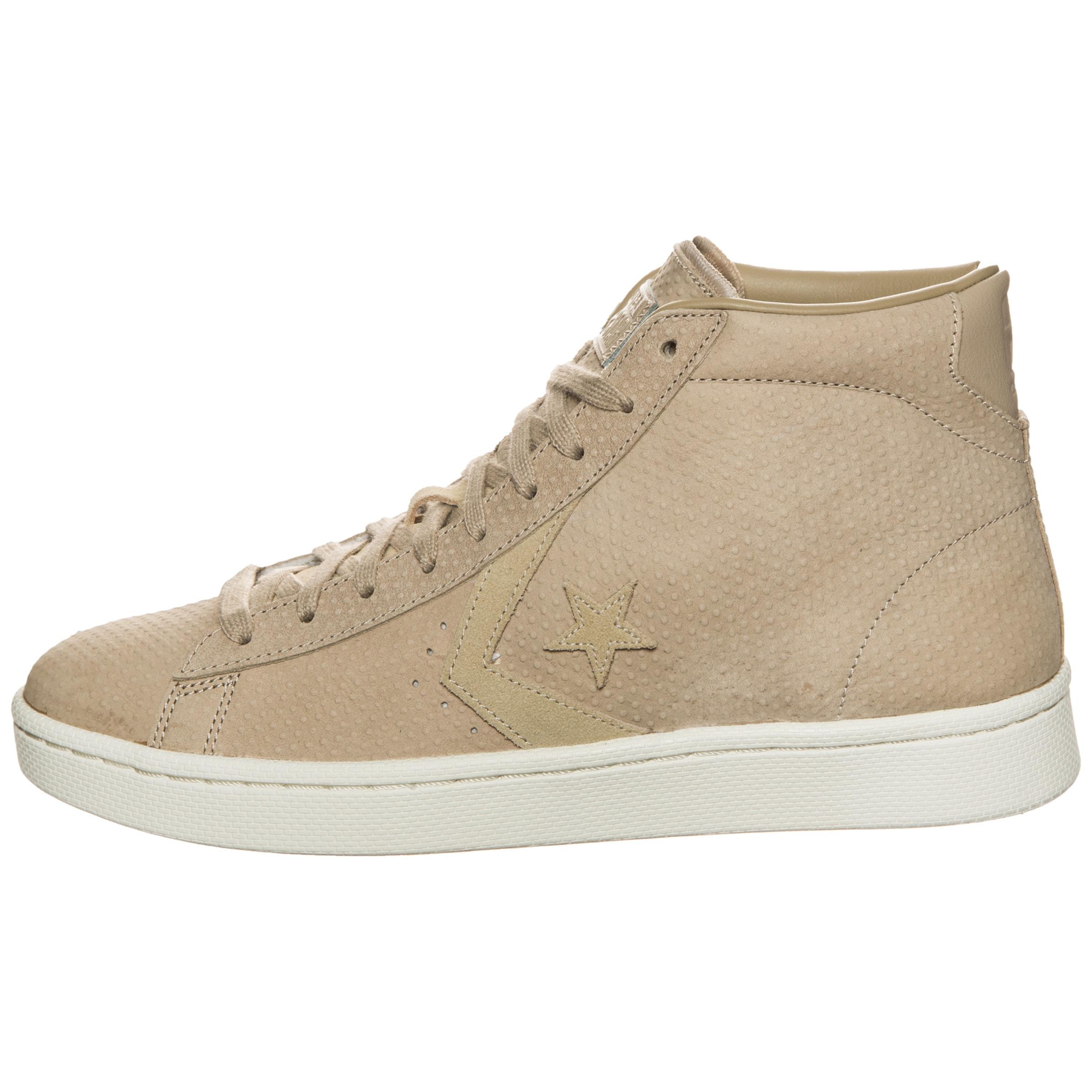 Lux Hautes Converse Beige En 76 Mid' Baskets Leather 'pro On8Nwv0m