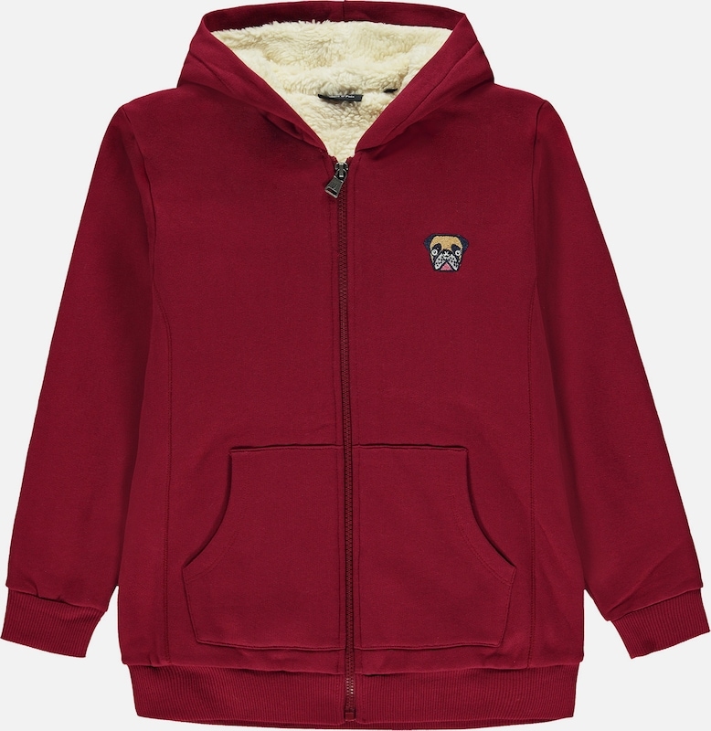 Marc O'Polo Junior Sweatjacke in rot, Produktansicht