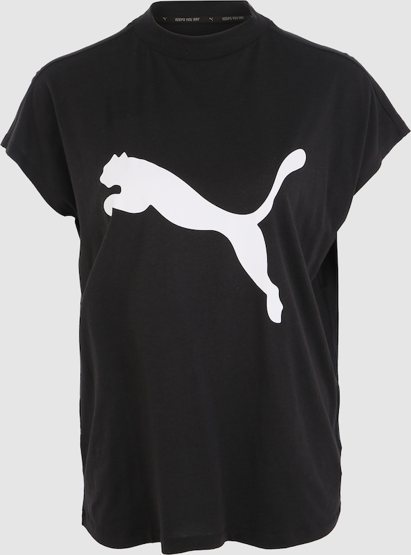 puma rmelloses t shirt 39 evostripe 39 in schwarz about you. Black Bedroom Furniture Sets. Home Design Ideas