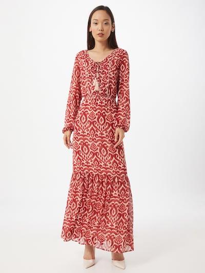 COMMA Kleid in rot / weiß, Modelansicht