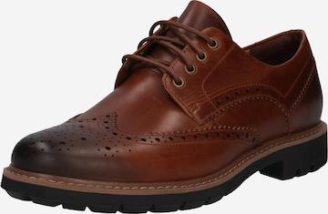 CLARKS Обувки с връзки 'Batcombe Wing' в кафяво