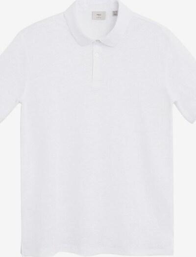 MANGO MAN Poloshirt amberes in weiß, Produktansicht