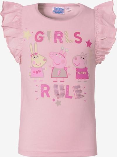 Peppa Pig T-Shirt 'Peppa Pig' in pastellgelb / hellgrau / pink / rosa, Produktansicht