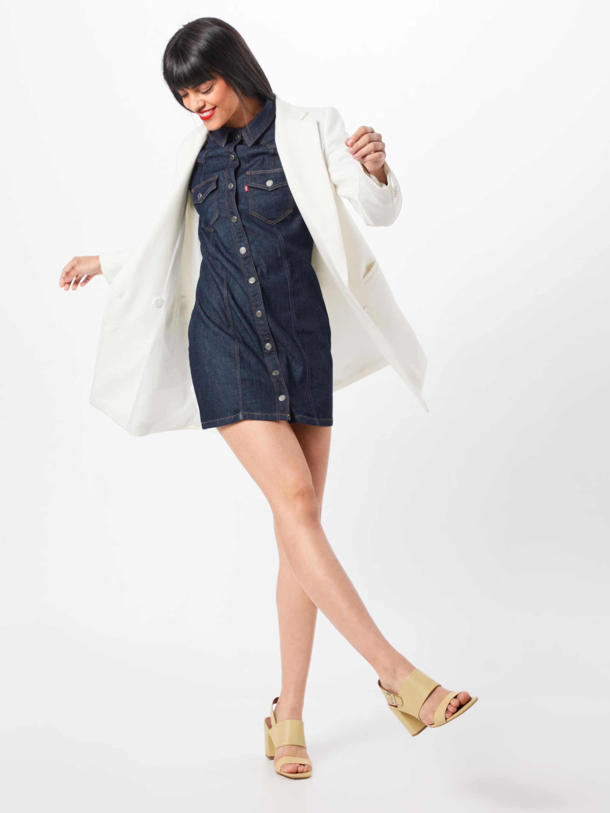 'gia In Levi's Kleid Western' Denim Blue oWBdCxre