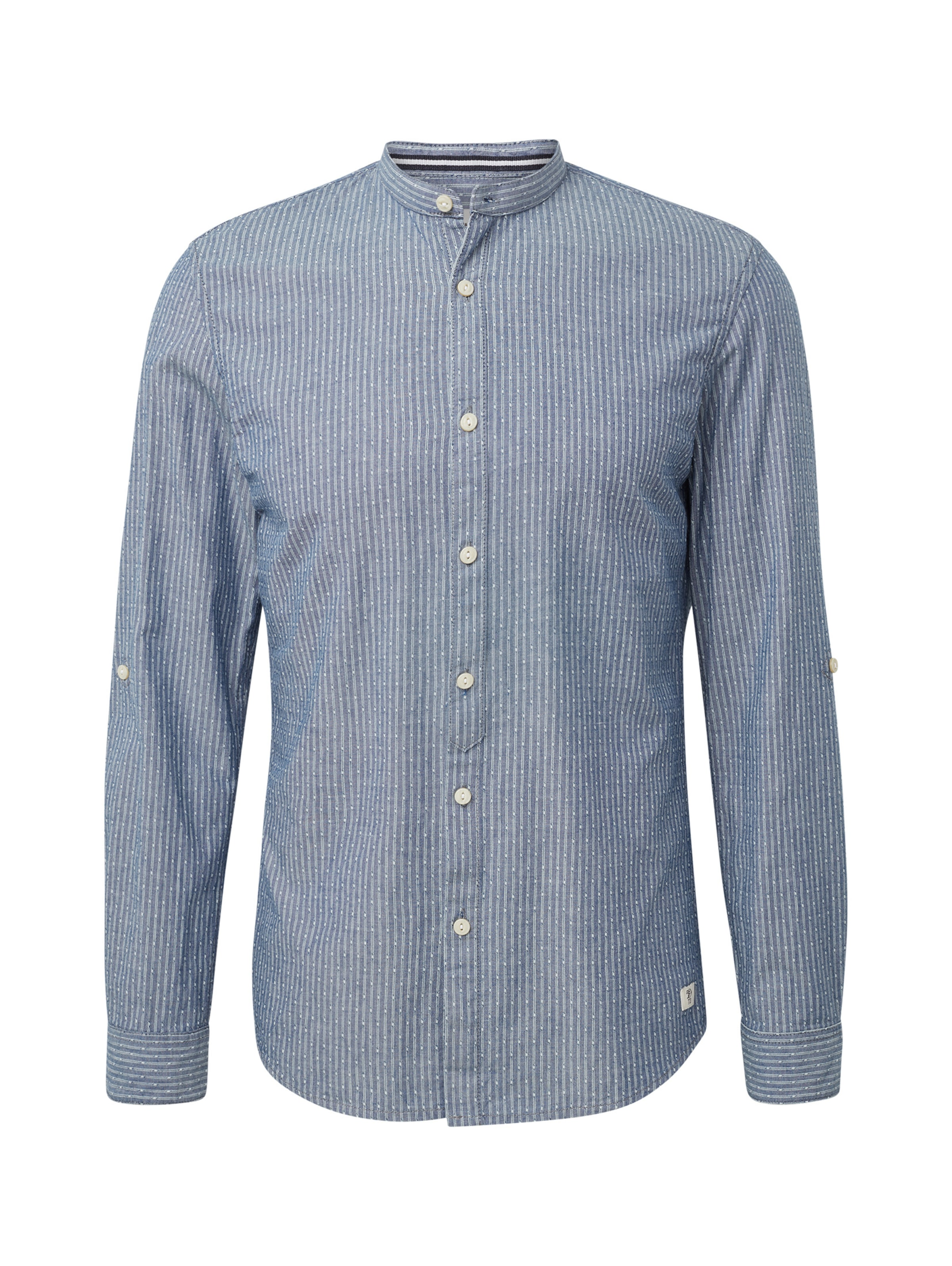 In Denim Tom Tailor Hemd BlauWeiß N0Oyvm8nw