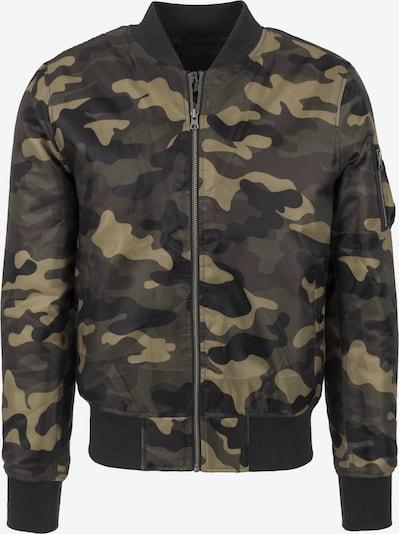 Urban Classics Jacke in dunkelbraun / khaki / schwarz, Produktansicht