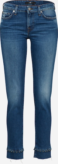 7 for all mankind Jeans 'PYPER CROP' in de kleur Blauw denim, Productweergave
