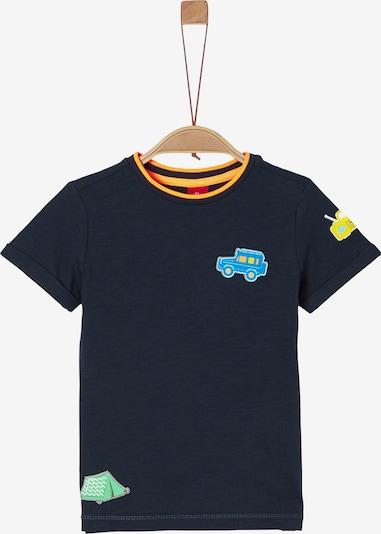 s.Oliver T-Shirt in navy / türkis / gelb, Produktansicht
