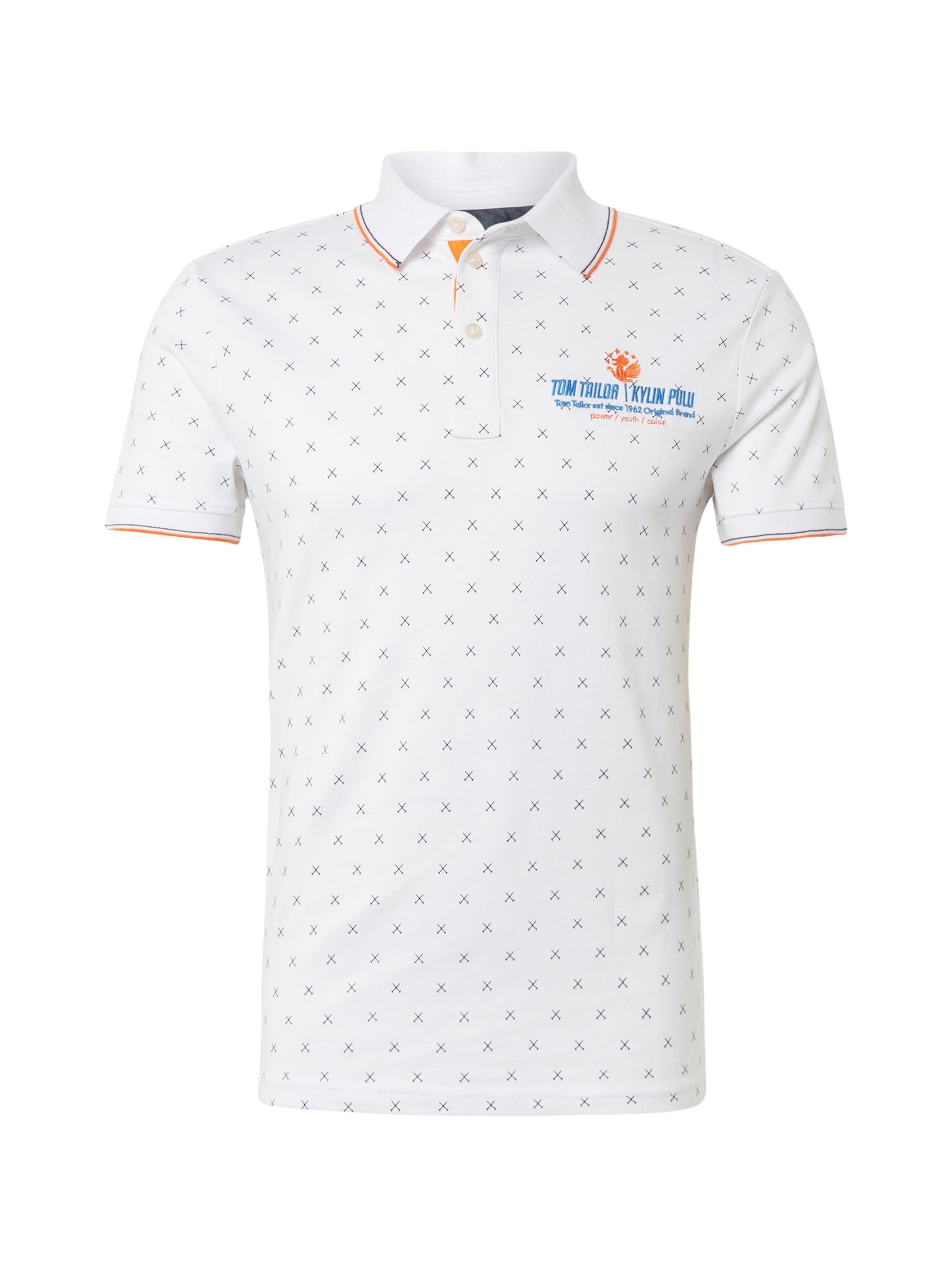 Tom Tailor Schwarz Poloshirt HimmelblauOrangemeliert Weiß In ucKJ31TlF