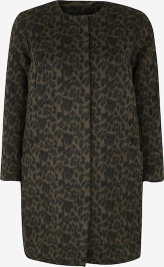 Zizzi Płaszcz przejściowy 'MPIXIE, L/S, COAT' w kolorze oliwkowy / czarnym, Podgląd produktu