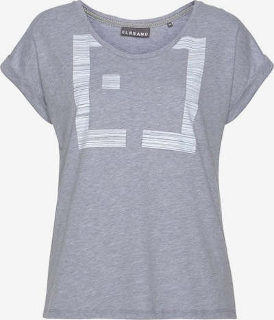 Elbsand Shirt 'Leikna' in grau / weiß, Produktansicht