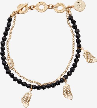 Sence Copenhagen Armband in gold / schwarz, Produktansicht