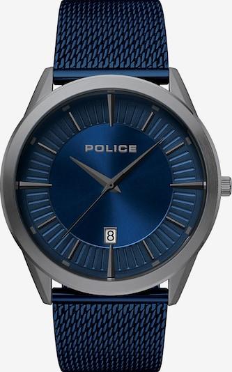 POLICE Uhr in blau / silber, Produktansicht