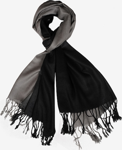 Silvio Tossi Schal in graumeliert / schwarz, Produktansicht