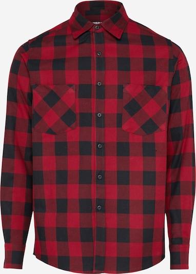 Urban Classics Hemd 'Checked Flanell' in burgunder / schwarz, Produktansicht