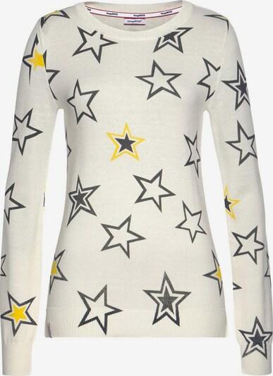 KangaROOS Pullover in gelb / dunkelgrau / perlweiß, Produktansicht