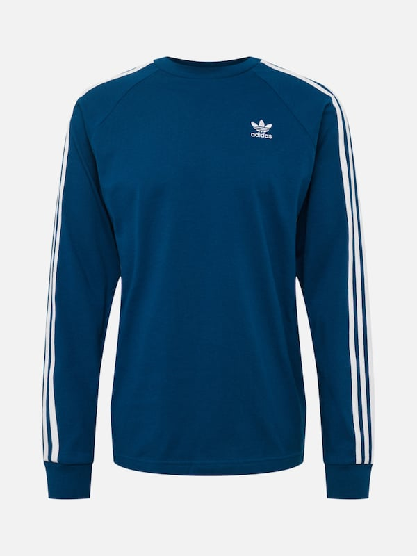 adidas originals 3 STRIPES LS T Shirt blue bei