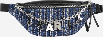 Karl Lagerfeld Tasche 'k/studio tweed bumbag' in blau / schwarz, Produktansicht