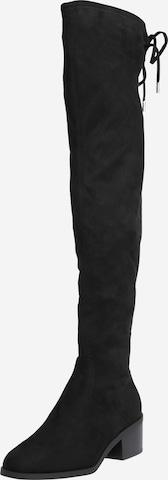 juoda STEVE MADDEN Ilgaauliai batai virš kelių 'Gerardine'