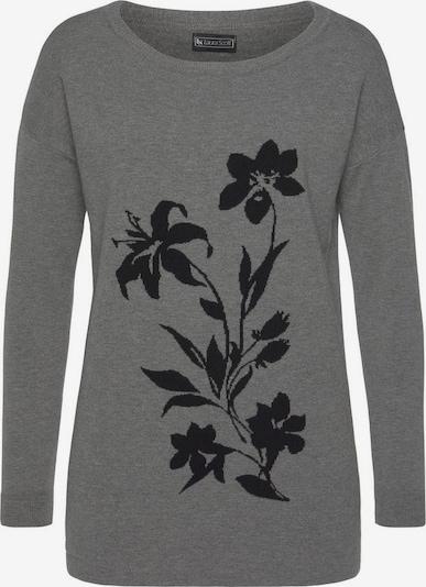 LAURA SCOTT Pullover in grau / schwarz, Produktansicht