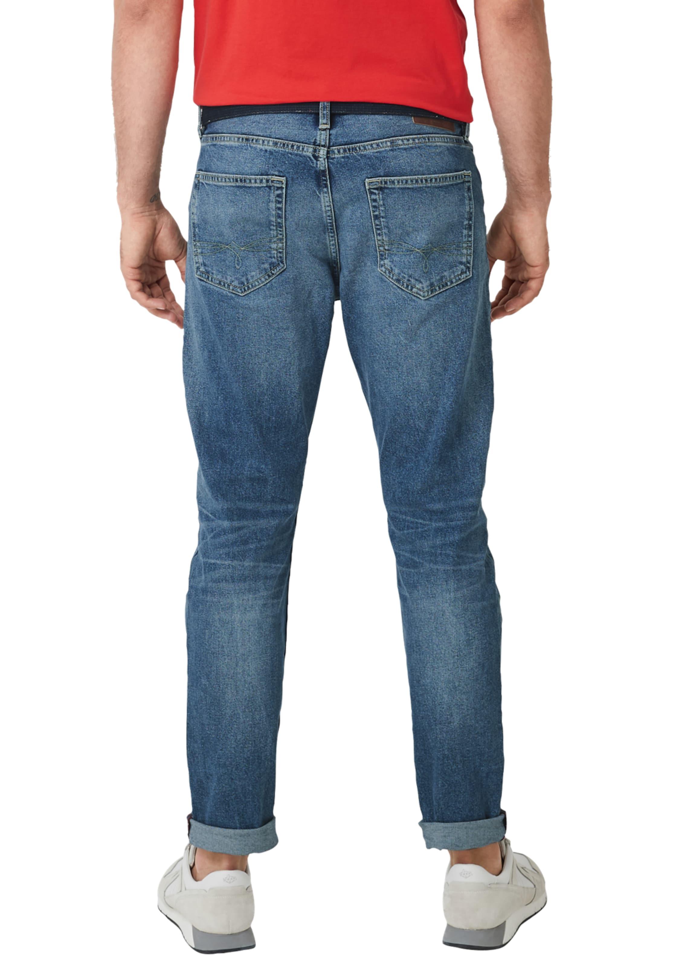 Red S Blau Gürtel In Mit Label oliver Cone TaperedJeans O0Pknw