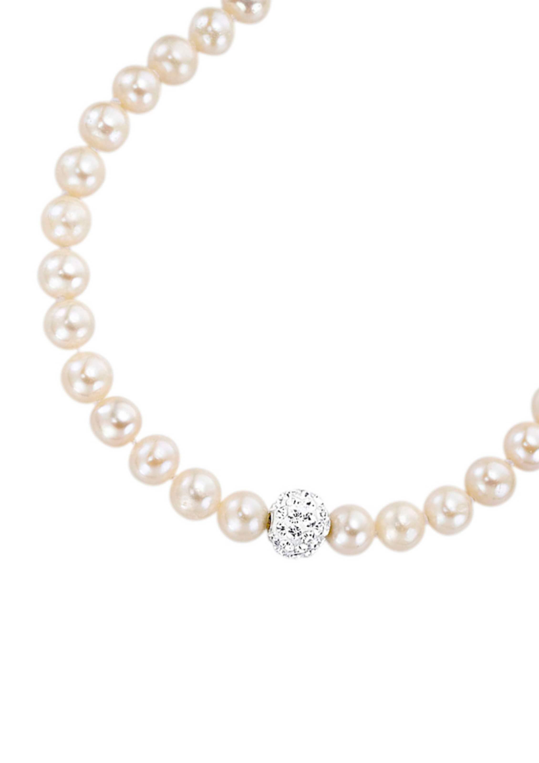 FIRETTI Halsschmuck: Collier mit Perlen und funkelnden Zirkonia Spielraum Wiki mxr4oPYp