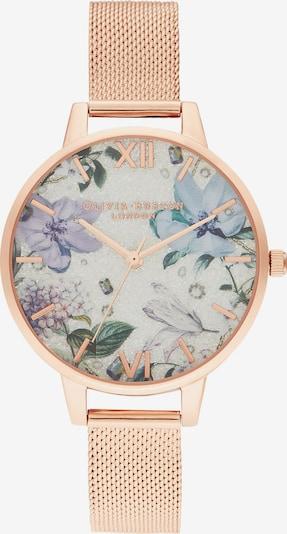 Olivia Burton Uhr 'Bejewelled Florals' in beige / hellblau / bronze, Produktansicht