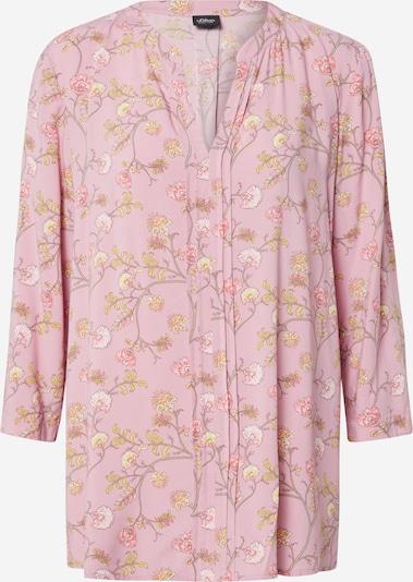 s.Oliver BLACK LABEL Bluza | rumena / roza / bela barva, Prikaz izdelka