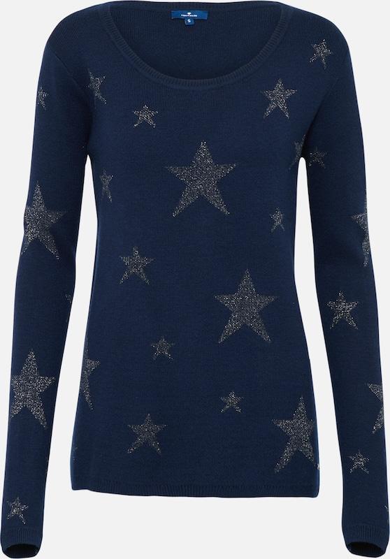 Bleu shirt En Tailor Intarsia' Tom T Marine 'star tdshrQ