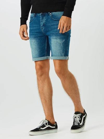 Hailys Men Shorts 'Marek' in blue denim, Modelansicht