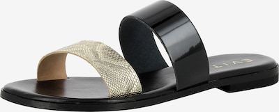 EVITA Sandale 'OLIMPIA' in gold / schwarz, Produktansicht