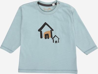Sanetta Pure Shirt in hellblau / hellbraun / schwarz, Produktansicht