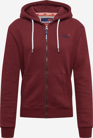 Superdry Sweatjacke 'Orange Label Classic' in burgunder, Produktansicht