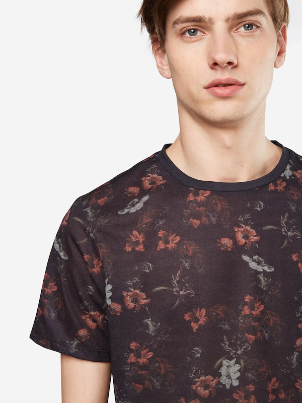 NEW LOOK T-Shirt 'RP 33 08.09 MW AUTUMN SUB FLORAL FADE'
