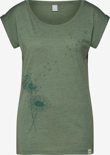 Iriedaily T-Shirt 'Pusteblume' in oliv / tanne, Produktansicht