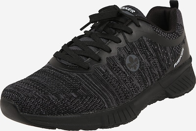 RIEKER Sneakers laag in de kleur Donkergrijs / Zwart, Productweergave